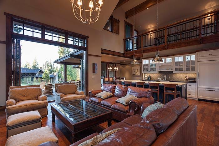 Martis Camp - Lot 257 - Living Room - Kitchen2