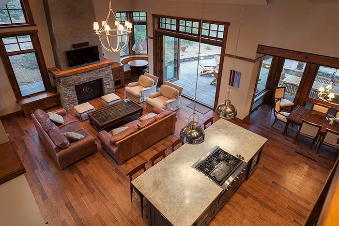 Martis Camp - Lot 257 - Living Room Top View