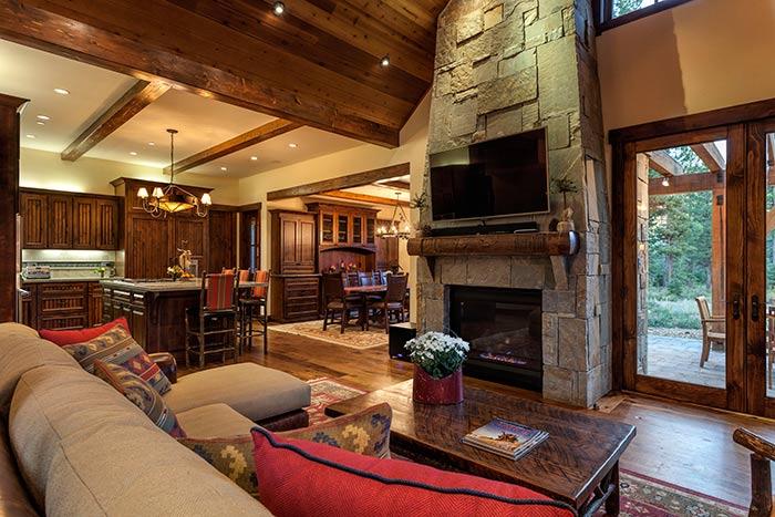 Martis Camp - Lot 270 - Living Room Fireplace